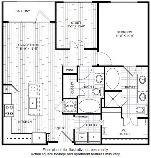 Floor Plan  A18 Floor Plan at Windsor CityLine