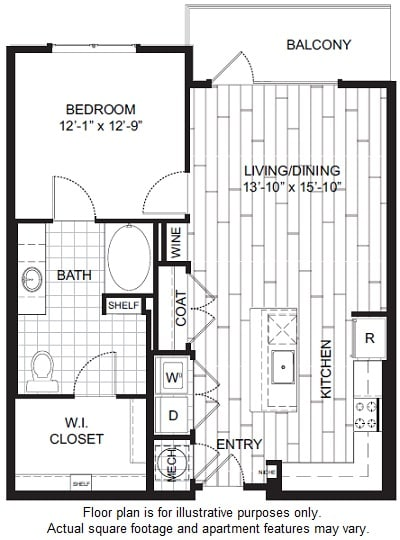 Floor Plan  A2 Floor Plan at Windsor CityLine