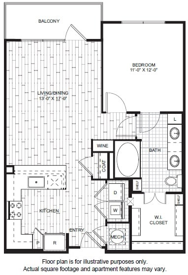 Floor Plan  A7 Floor Plan at Windsor CityLine