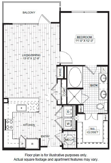 Floor Plan  A7-1 Floor Plan at Windsor CityLine