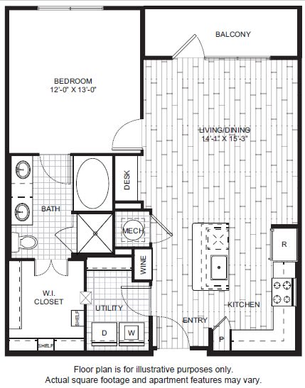 Floor Plan  A8 Floor Plan at Windsor CityLine