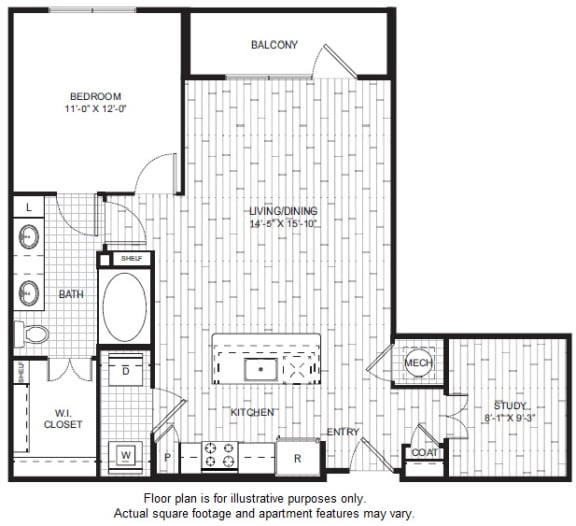 Floor Plan  A9 Floor Plan at Windsor CityLine