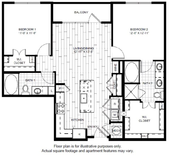 Floor Plan  B1 Floor Plan at Windsor CityLine
