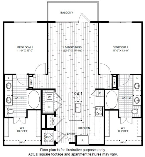 Floor Plan  B2-1 Floor Plan at Windsor CityLine