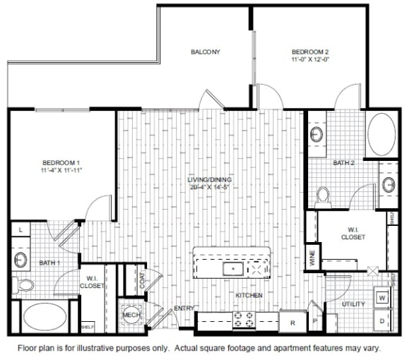 Floor Plan  B3-A Floor Plan at Windsor CityLine