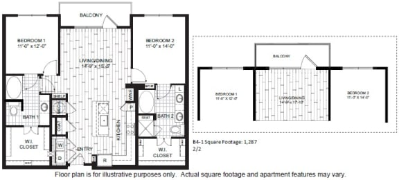 Floor Plan  B4 Floor Plan at Windsor CityLine