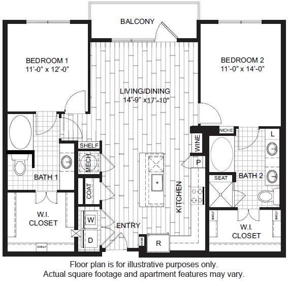 Floor Plan  B41 Floor Plan at Windsor CityLine