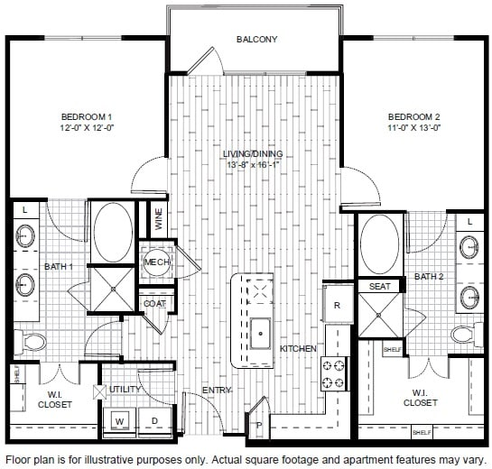 Floor Plan  B5 Floor Plan at Windsor CityLine
