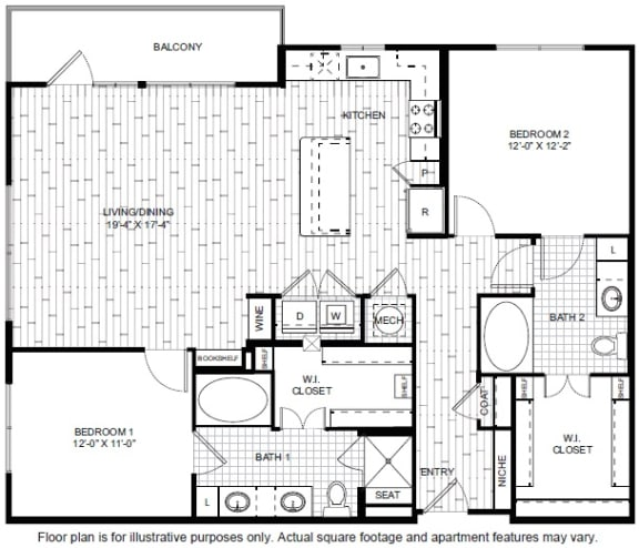 Floor Plan  B7-1 Floor Plan at Windsor CityLine