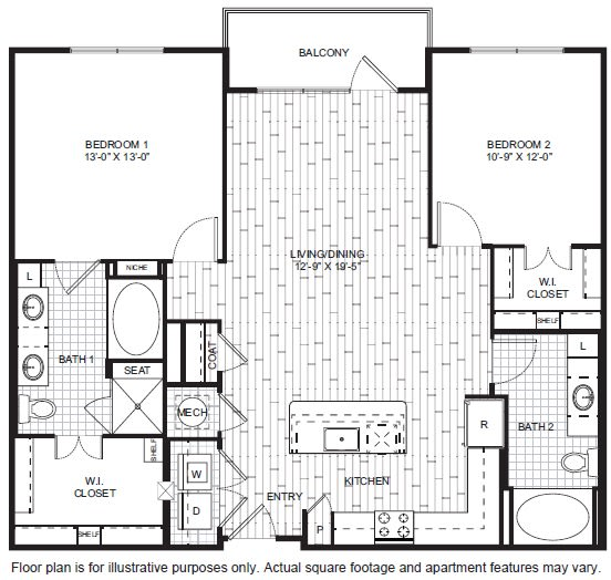 Floor Plan  B8 Floor Plan at Windsor CityLine