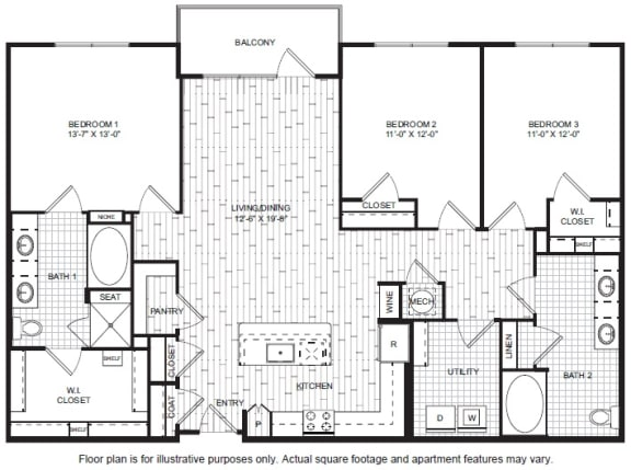 Floor Plan  C1 A Floor Plan at Windsor CityLine