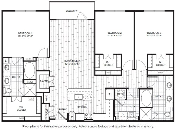 Floor Plan  C1 Floor Plan at Windsor CityLine
