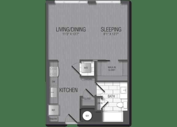 M.1A2 Floor Plan at TENmflats, Columbia, Maryland