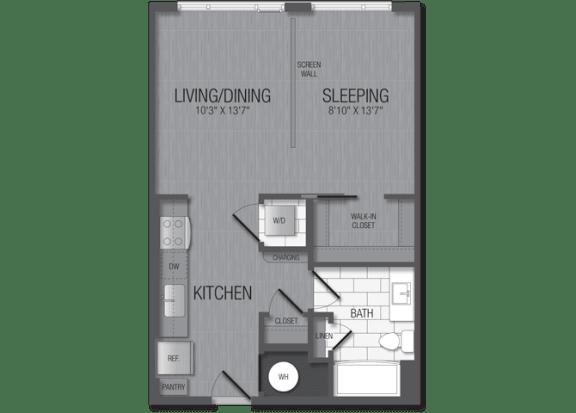 M.1A2A Floor Plan at TENmflats, Columbia