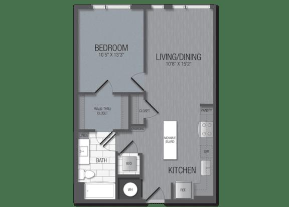M.1A3 Floor Plan at TENmflats, Maryland, 21044
