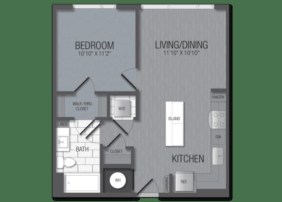 M.1A6 Floor Plan at TENmflats, Columbia, Maryland