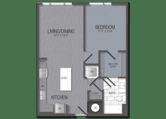 M.1B4 Floor Plan at TENmflats, Maryland