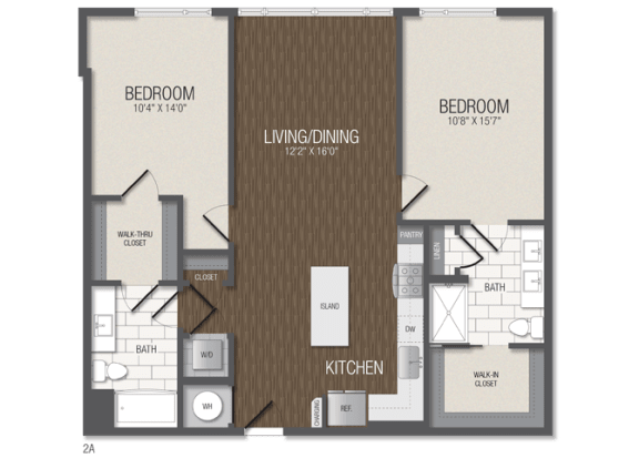 T.2A Floor Plan at TENmflats, Columbia