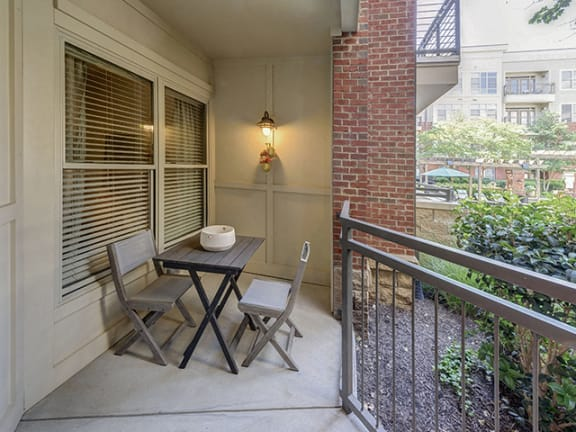 Expansive Private Patio/Balcony at 712 Tucker, Raleigh