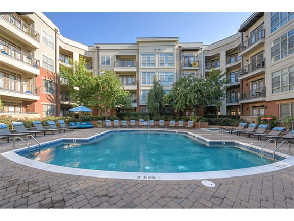 Pool Side Relaxing Area at 712 Tucker, Raleigh, North Carolina