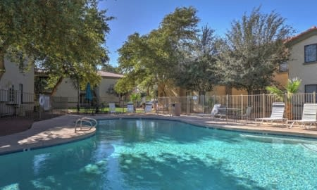 Sparkling Swimming Pool at The Colony Apartments, Casa Grande, Arizona