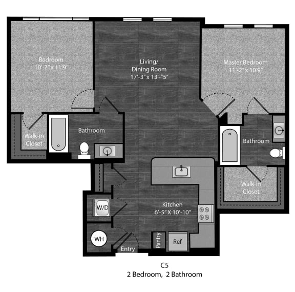 Angelou-2Bed Layout at The Edition Apartments, Hyattsville, Maryland