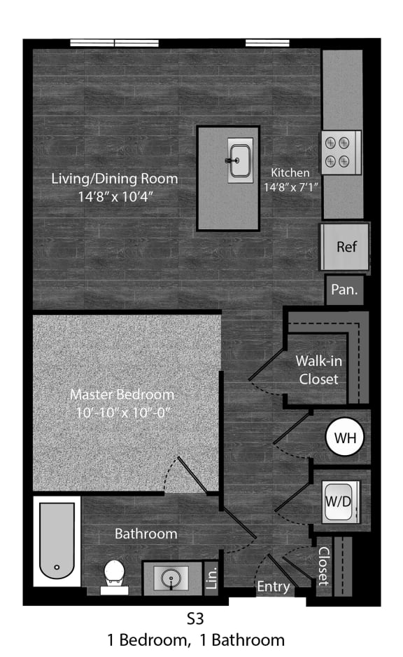 Versatile Faulkner-1Bed Layout at The Edition Apartments, Hyattsville, MD, 20782