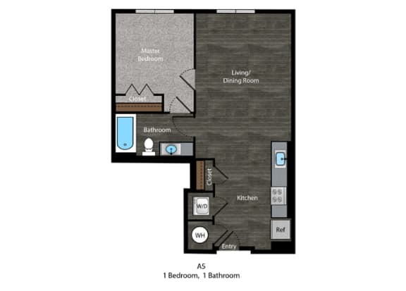 Dickens-1 Bed Floor Plan at The Edition, Maryland, 20782