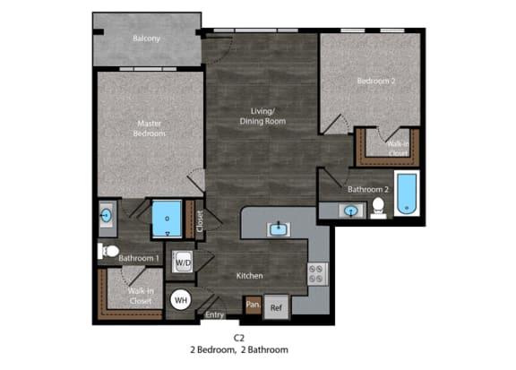 Christie-2 Bed Floor Plan at The Edition, Hyattsville, MD