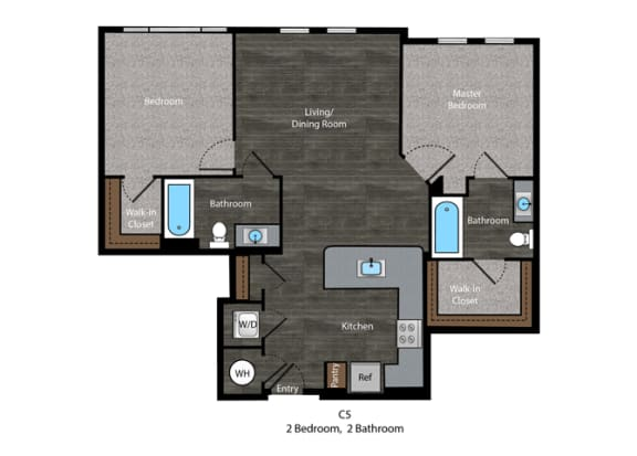 Angelou-2 Bed Floor Plan at The Edition, Hyattsville