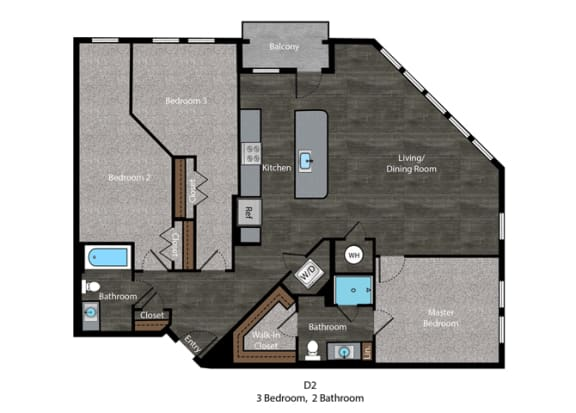 Melville-3 Bed Floor Plan at The Edition, Maryland, 20782