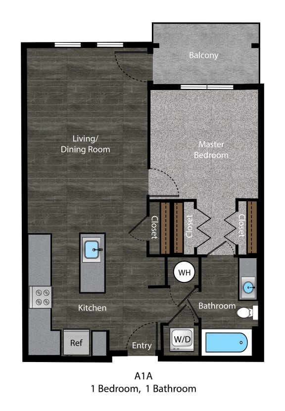 Patterson-A1A Floor Plan at The Edition Apartments, Hyattsville