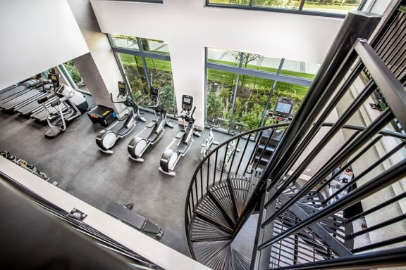 Two-Story, Top-of-the-Line Fitness Center at The Edition, Maryland