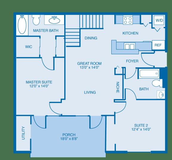 Cumberland Floor Plan at Reserve at North River, Tuscaloosa, Alabama