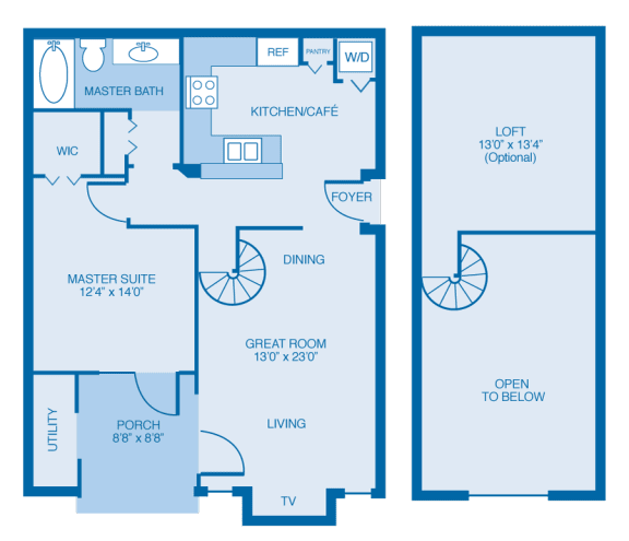Madison With Loft Floor Plan at Reserve at North River, Tuscaloosa, 35406