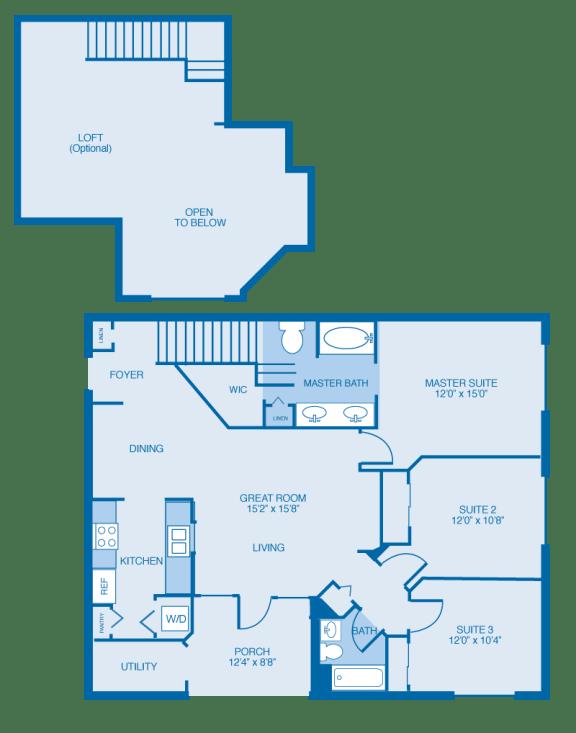 Savannah Floor Plan at Reserve at North River, Tuscaloosa, AL