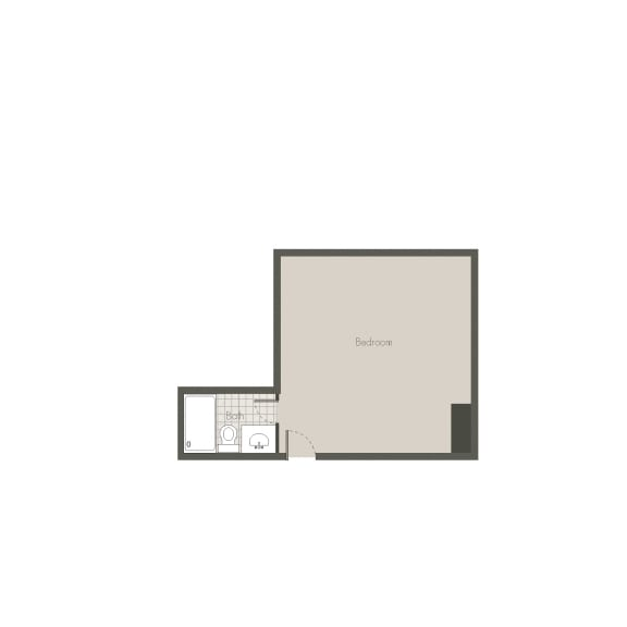 Sleeping Only Floor plan at Desert Creek, Albuquerque, New Mexico
