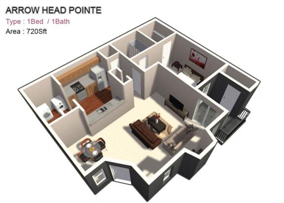 Large 1x1 720 sq ft
