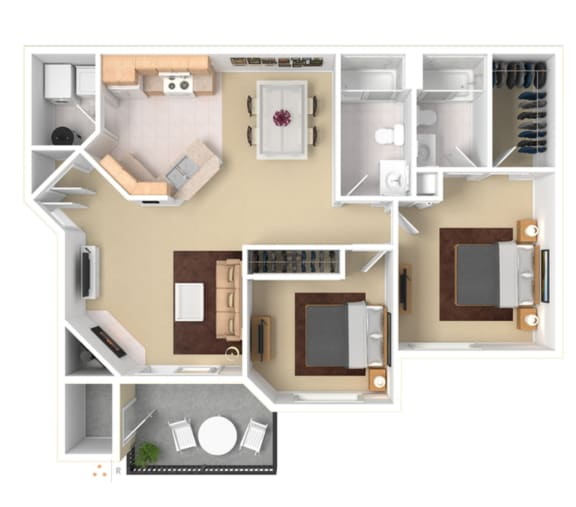 Two BedroomFloor Plan  ApartmentApartment For Rent in Gresham OR 97080 l The Arden