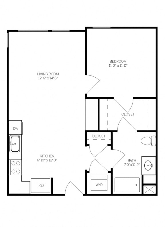 Floor Plans A3 at AVE Walnut Creek, Walnut Creek, California
