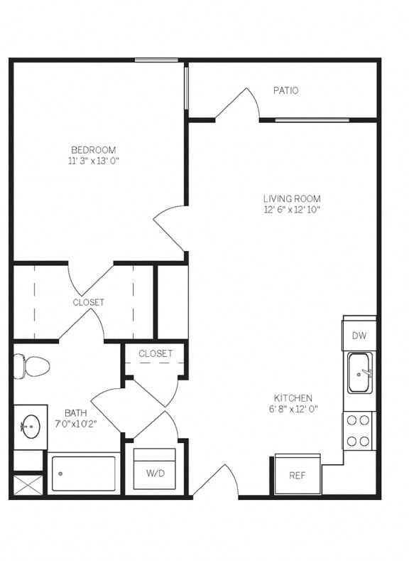 Floor Plans A5 at AVE Walnut Creek, California