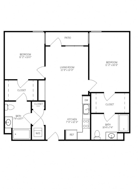 Floor Plans B1C at AVE Walnut Creek, Walnut Creek