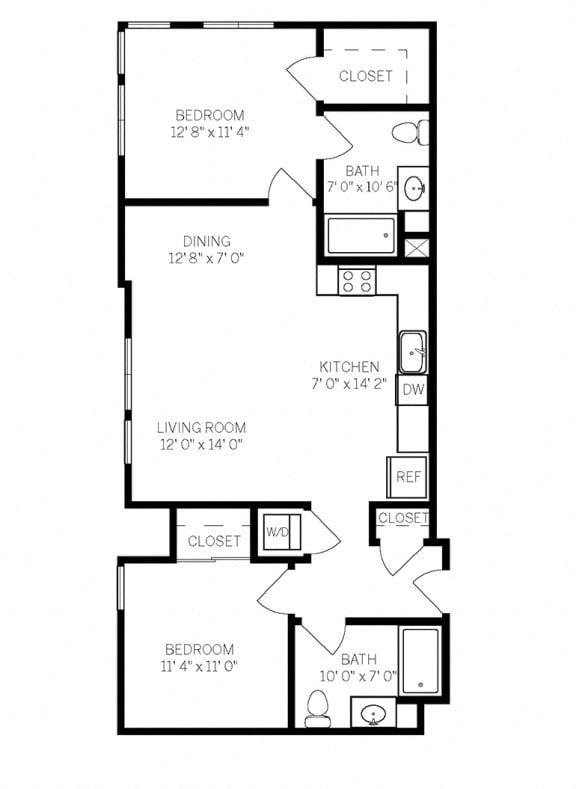 Floor Plans B4 at AVE Walnut Creek, Walnut Creek, CA