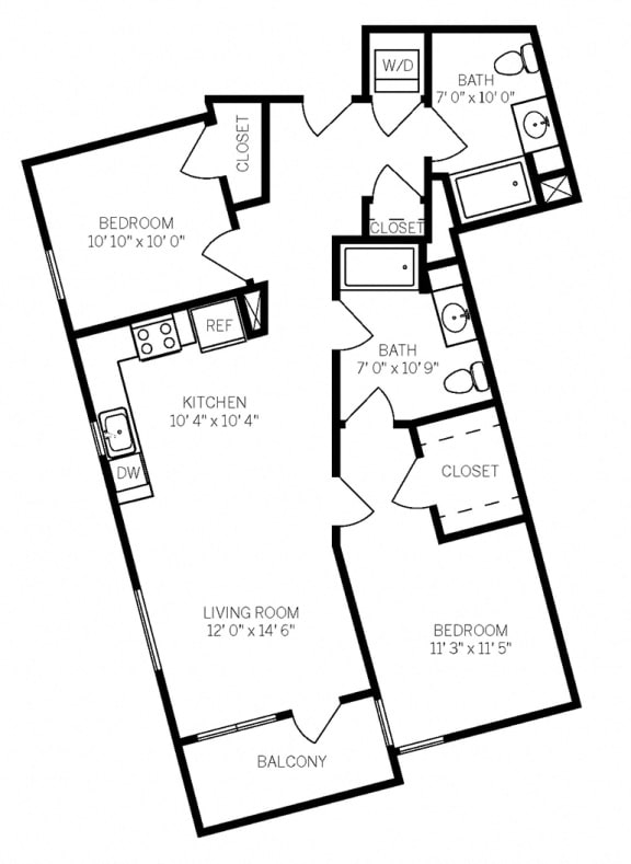 Floor Plans B5 at AVE Walnut Creek, Walnut Creek, 94596