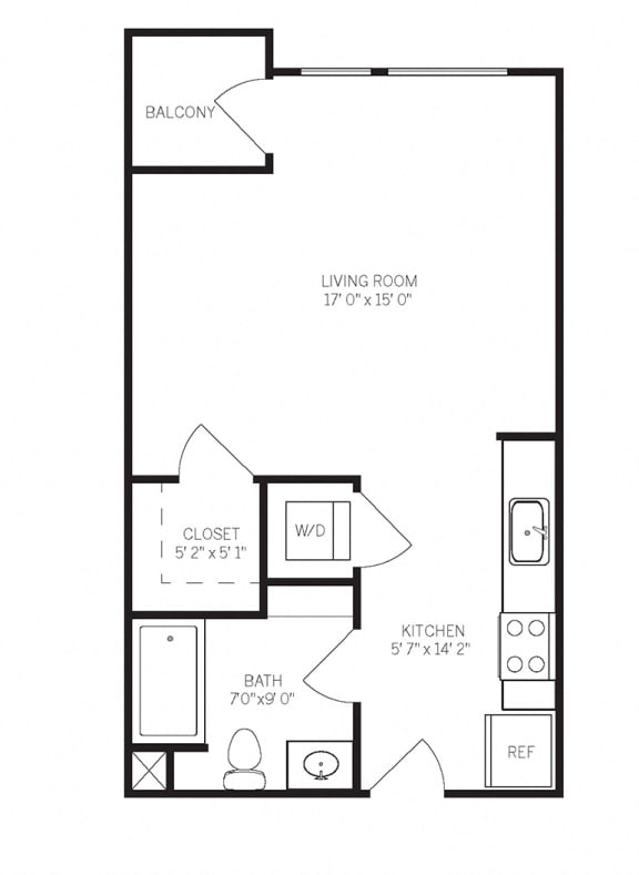 Floor Plan  Floor Plans E1 at AVE Walnut Creek, Walnut Creek, California