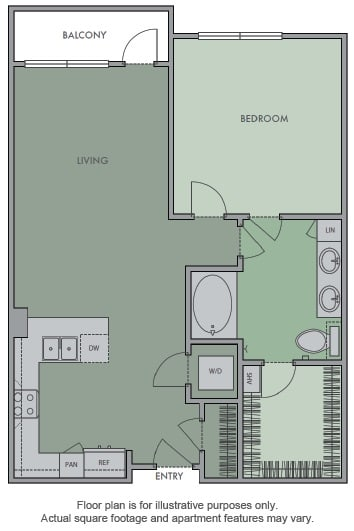 Floor Plan  E Floor Plan at Olympic by Windsor