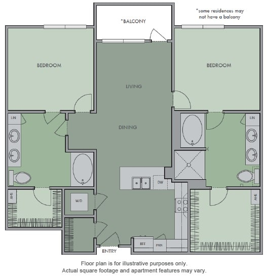 Floor Plan  K Floor Plan at Olympic by Windsor