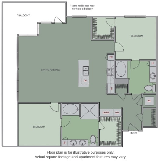 Floor Plan  M Floor Plan at Olympic by Windsor