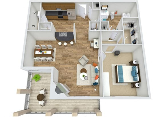 Floor Plan  Floor Plan A3 at Rose Heights apartment Raleigh, NC