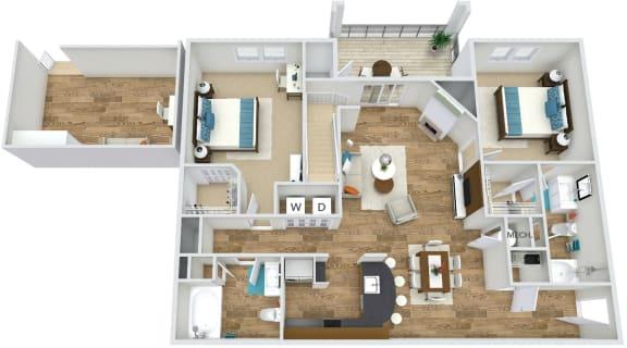 Floor Plan  Floor Plan B4 at Rose Heights apartment Raleigh, NC